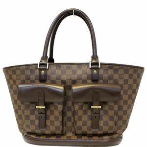 LOUIS VUITTON Manosque Damier Ebene Shoulder Bag